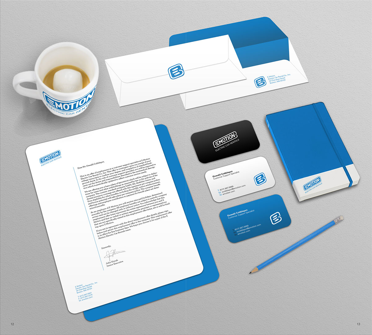 E Motion Brand Stationery